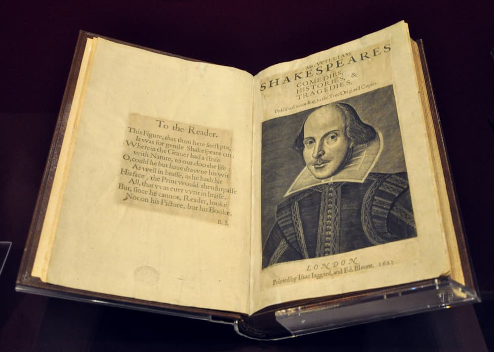William Shakespeare first folio of Comedies, Histories & Tragedies