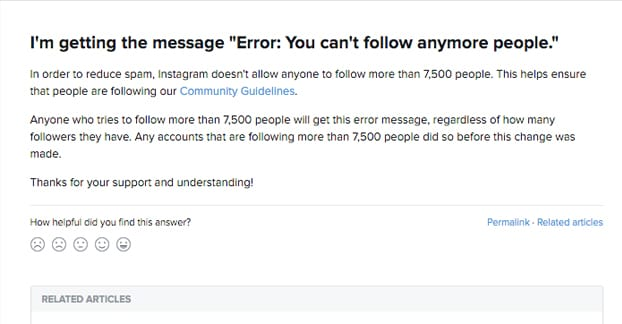 Instagram Follow Limitations