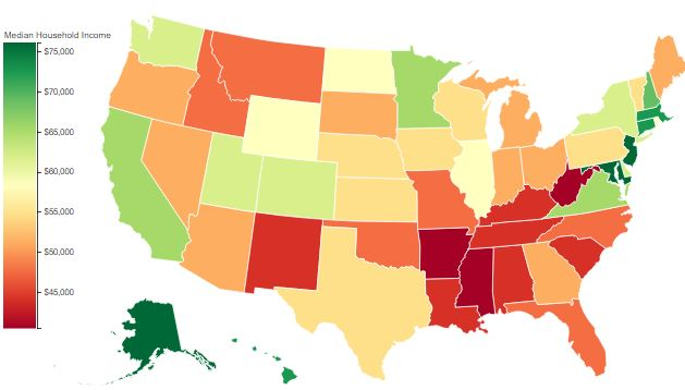 Childcare and college costs by state