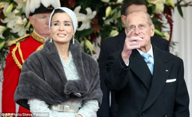 Prince Philip keeps the Emir