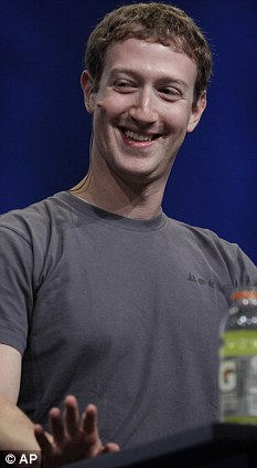 Smiling: Facebook has made Mark Zuckerberg billions off the back of people