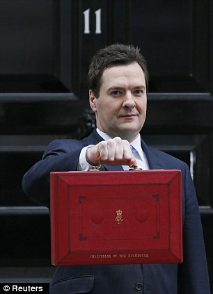 George Osborne with the new Budget, which penalises stay-at-home mothers