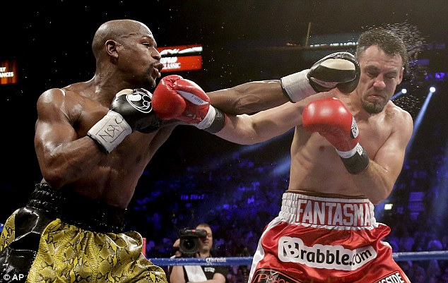Mayweather returned to the ring after 12 months away with a unaminous points win over Roberto Guerrero