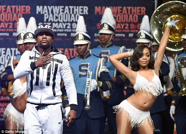 Mayweather is just days away from taking on his great rival Manny Pacquiao in Las Vegas