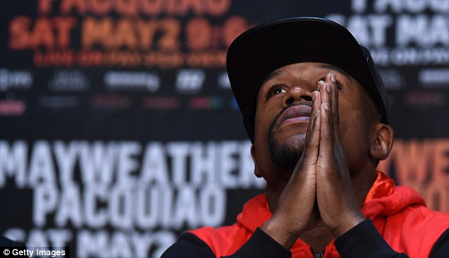Mayweather thanked God at the beginning of his final address before the big fight