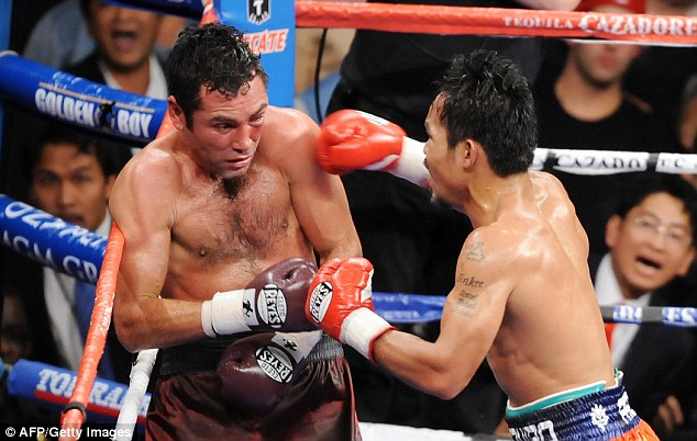 Manny Pacquiao made light of the size difference to pummel De La Hoya into retirement