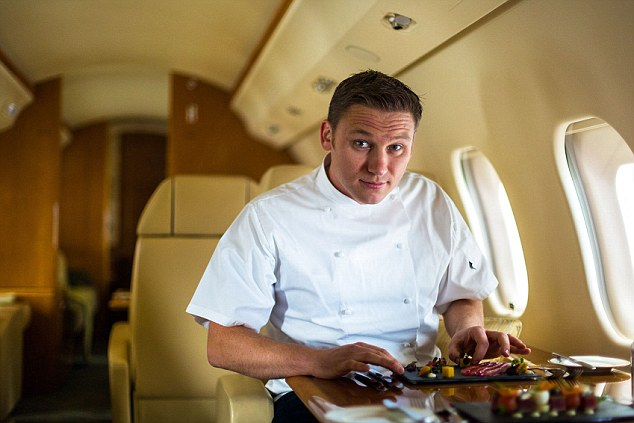 Daniel Hume of On Air Dining on board a private jet. He explains: