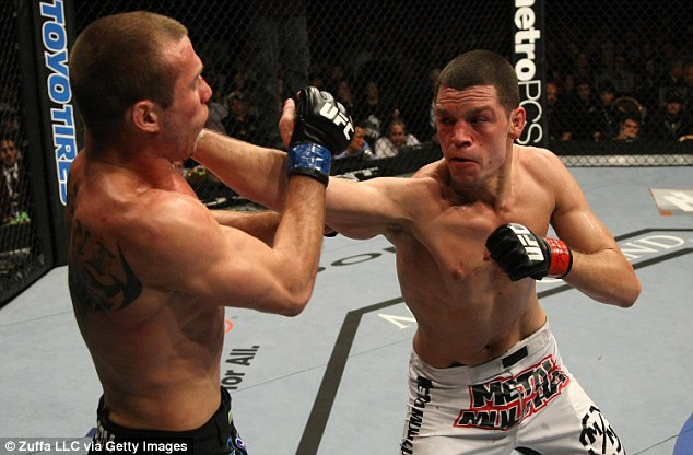 Diaz (right) is known for his technical boxing and volume striking as well as his lethal submission skills
