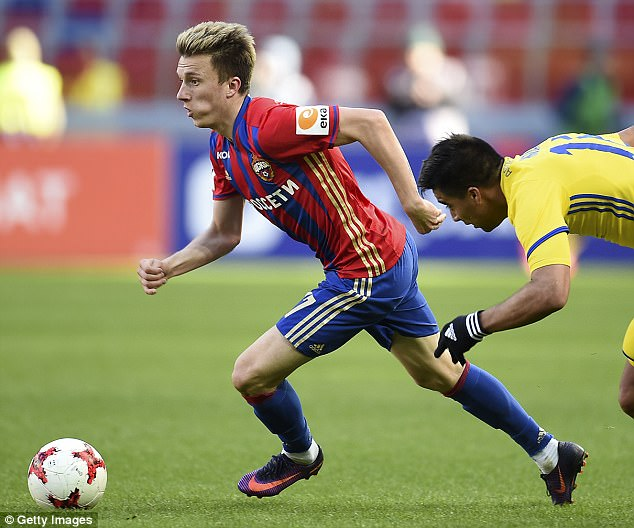 Chelsea are eyeing 20-year-old CSKA Moscow