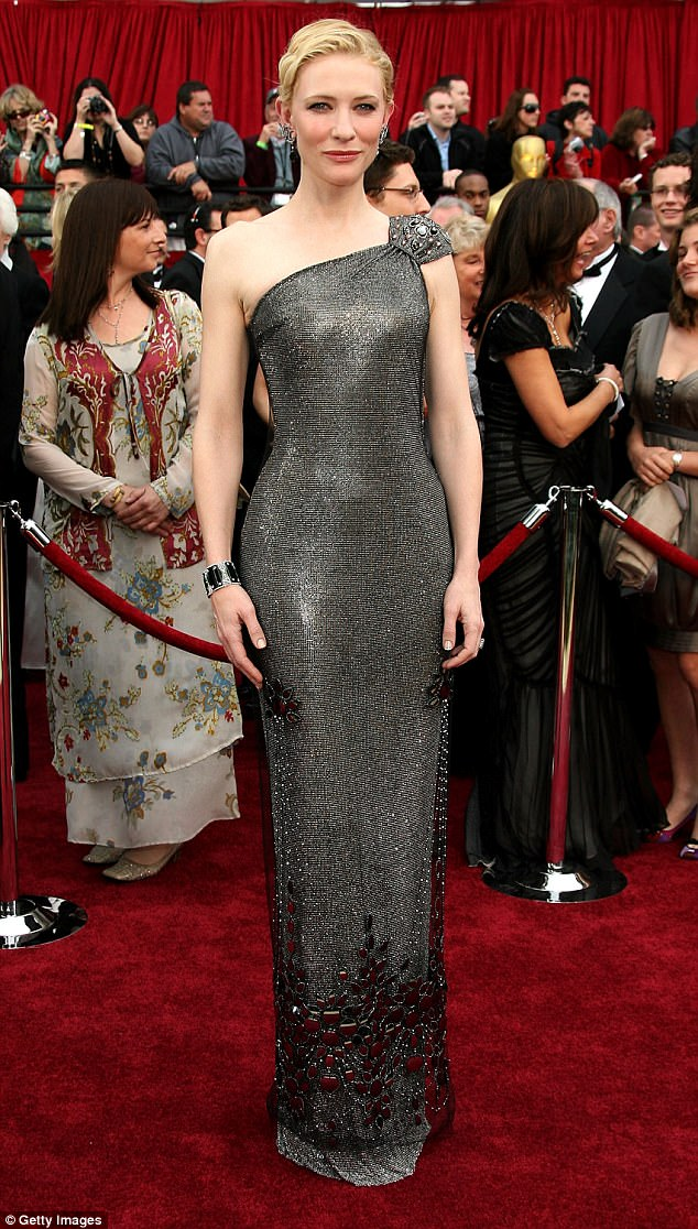 Cate Blanchett stunned in a $200,000 (£154K) Armani Privé dress fully embellished with Swarovski crystals for the 2007 Oscars