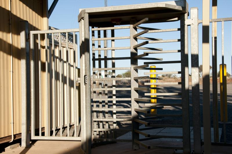 Turnstiles Security Gate. For Correctional Facility stock image