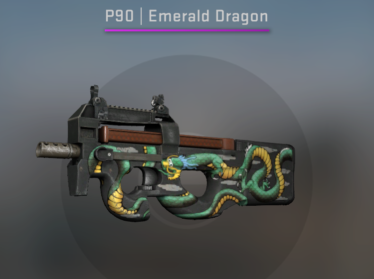 StatTrak P90 Emerald Dragon - Factory New CS:GO Skin