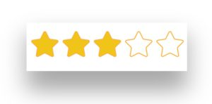 3 Star Rating