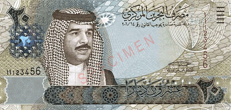 second most expensive currency Bahrain Dinar