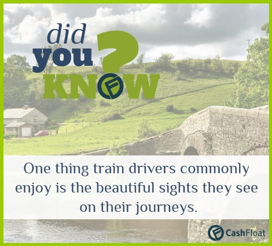 One thing train drivers commonly enjoy is the beautiful sights they see on their journeys. - Cashfloat