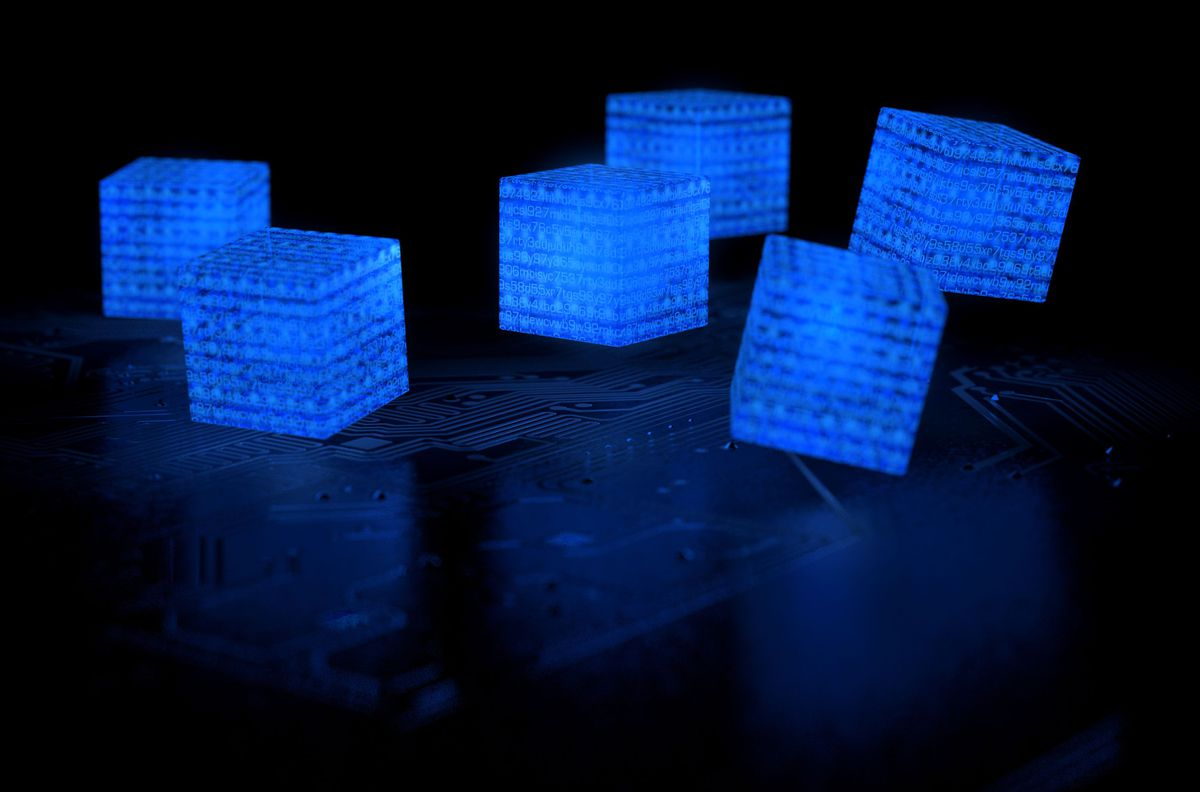 glowing boxes