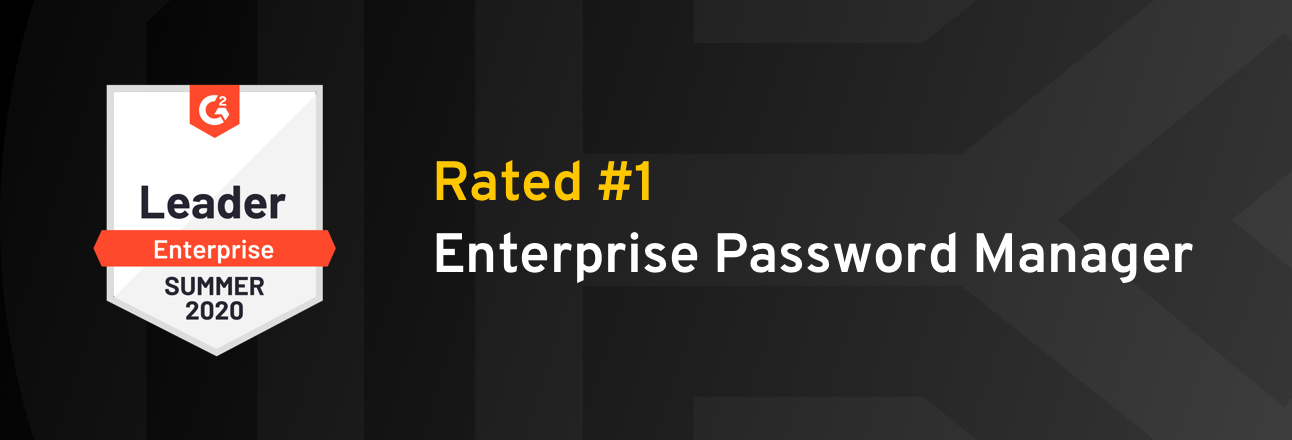Keeper is Rated the Leading Enterprise Password Manager in G2 Summer Report