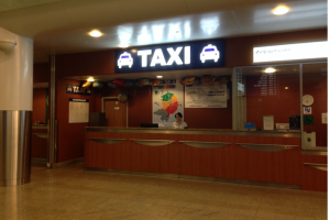 Taxi office at the Sheremetyevo Airport