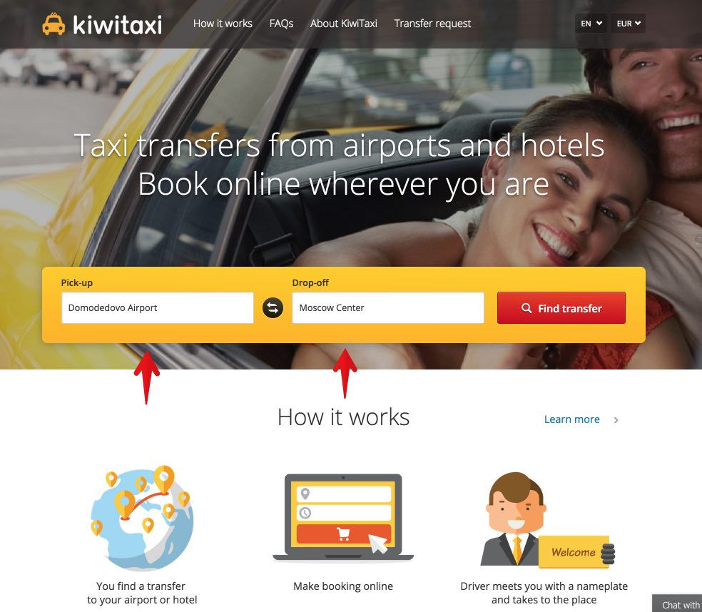 Reserve taxi in advance in the international airports of Moscow - Kiwitaxi 1